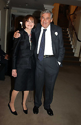 MARK LITTMAN QC and his wife MARGARIETTE LITTMAN auctioneers Sotheby's Summer party held at their showrooms in 34-35 New Bond Street, London W1 on 6th June 2005.<br /><br />NON EXCLUSIVE - WORLD RIGHTS