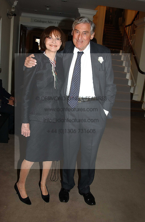 MARK LITTMAN QC and his wife MARGARIETTE LITTMAN auctioneers Sotheby's Summer party held at their showrooms in 34-35 New Bond Street, London W1 on 6th June 2005.<br />