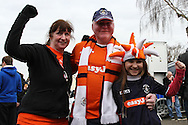Picture by David Horn/Focus Images Ltd +44 7545 970036.16/02/2013.Luton Fans arrive  ahead of their game with Championship side Millwall in the The FA Cup match at Kenilworth Road, Luton.