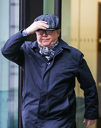 """William Anthony Eve leaves Westminster Magistrates Court in London after appearing on charges of racially abusing Al Jazeera journalist Sonia Gallego at a """"Free Tommy Robinson"""" rally on July 14th 2018 at Horseguards Parade. LONDON, January 10 2019."""