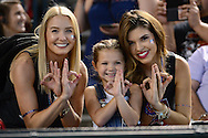 PHOENIX, AZ - JULY 04:  Arizona Diamondbacks Rally-backs pose for a photo with the play ball kid prior to the game between the San Diego Padres and Arizona Diamondbacks at Chase Field on July 4, 2016 in Phoenix, Arizona.  (Photo by Jennifer Stewart/Getty Images)