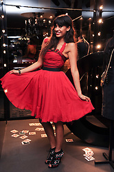 JAMEELA JAMIL at a party hosted by InStyle to celebrate the iconic glamour of Dolce & Gabbana held at D&G, 6 Old Bond Street, London on 3rd November 2010.
