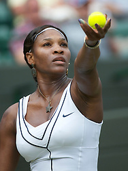 LONDON, ENGLAND - Saturday, June 25, 2011: Serena Williams (USA) in action during the Ladies' Singles 3rd Round match on day six of the Wimbledon Lawn Tennis Championships at the All England Lawn Tennis and Croquet Club. (Pic by David Rawcliffe/Propaganda)