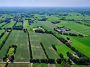 Nederland, Overijssel, GemeenteTubbergen; 21–06-2020; Landschap bij Langeveen, landelijk en agrarisch gebied<br /> Landscape near Langeveen, rural and agricultural country side.<br /> <br /> luchtfoto (toeslag op standaard tarieven);<br /> aerial photo (additional fee required)<br /> copyright © 2020 foto/photo Siebe Swart