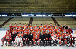 HK Acroni Jesenice Team roaster for 2009-2010 season,  on September 03, 2009, in Arena Podmezaklja, Jesenice, Slovenia.  (Photo by Vid Ponikvar / Sportida)