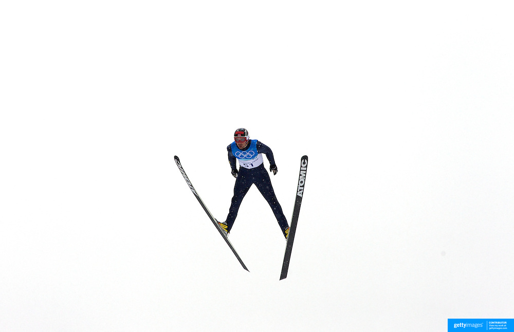 Winter Olympics, Vancouver, 2010.Magnus H. Moan, Norway,  in action during the Nordic Combined Ski Jumping at The Whistler Olympic Park, Whistler, during the Vancouver  Winter Olympics. 12th February 2010. Photo Tim Clayton