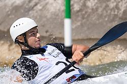 Niko TESTEN of Slovenia during the Kayak Single (MK1) Mens Semi Final race of 2019 ICF Canoe Slalom World Cup 4, on June 30, 2019 in Tacen, Ljubljana, Slovenia. Photo by Sasa Pahic Szabo / Sportida