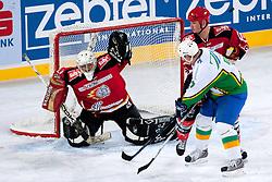 Goalie Ales Petrovcic during ice-hockey friendly match between legends of HDD Tilia Olimpija and HK Acroni Jesenice, on April 14, 2012 at SRC Stozice, Ljubljana, Slovenia. (Photo By Matic Klansek Velej / Sportida.com)