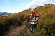 VILLIERSDORP, SOUTH AFRICA - 4th placed today and best African Team Kevin Evans and David George of MTN Energade during stage two, of the Absa Cape Epic Mountain Bike Stage Race held in Villiersdorp on the 23 March 2009 in the Western Cape, South Africa..Photo by Sven Martin  /SPORTZPICS