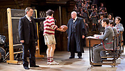 Forty Years On <br /> by Alan Bennett <br /> at Festival Theatre Chichester , Great Britain <br /> press photocall <br /> 25th April 2017 <br /> <br /> Richard Wilson as Headmaster <br /> <br /> Alan Cox as Franklin <br /> <br /> Michael Hamway as Tregold - rugby boy <br /> <br /> <br /> <br /> Photograph by Elliott Franks <br /> Image licensed to Elliott Franks Photography Services