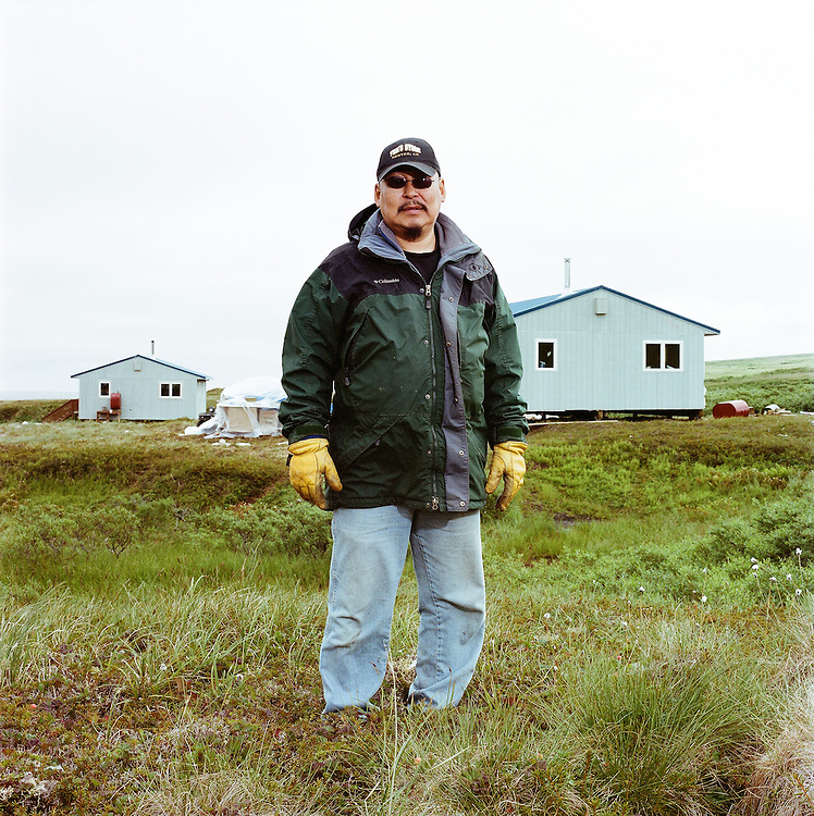 Stanley Tom of Newtok in Mertarvik where the village of Newtok will be relocating. 2008