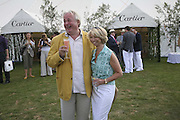 Christopher Biggins and Helen Worth, Cartier International Polo. Guards Polo Club. Windsor Great Park. 30 July 2006. ONE TIME USE ONLY - DO NOT ARCHIVE  © Copyright Photograph by Dafydd Jones 66 Stockwell Park Rd. London SW9 0DA Tel 020 7733 0108 www.dafjones.com