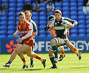 Reading, GREAT BRITAIN, Exiles, Declan DANAHER, breaking with the ball through midfield, during the Heineken, Quarter Final, Cup rugby match,  London Irish vs Perpignan, at the Madejski Stadium on Sat 05.04.2008 [Photo, Peter Spurrier/Intersport-images]