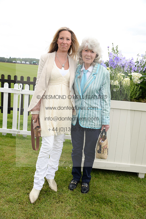 JILLY COOPER and her daughter EMILY at the 2013 Cartier Queens Cup Polo at Guards Polo Club, Berkshire on 16th June 2013.