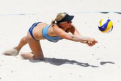 20140607 ITA: EK Beachvolleybal, Cagliari<br /> Marleen van Iersel <br /> ©2014-FotoHoogendoorn.nl / Pim Waslander