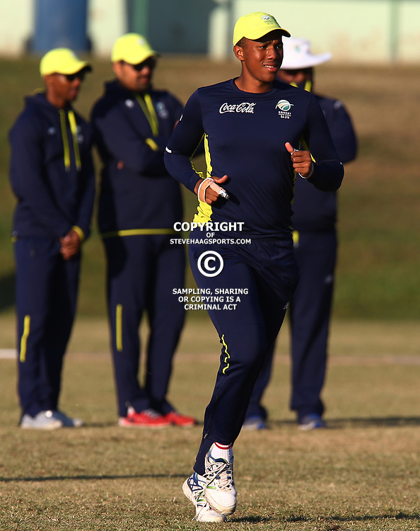 Wandile Makwetu W/K of the South African Under-19&rsquo;s during the 2nd unofficial ODI match between South Africa Under-19s and West Indies Under-19s Chatsworth Stadium, Durban 19th July 2017(Photo by Steve Haag)<br /> <br /> images for social media must have consent from Steve Haag