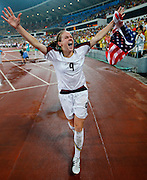 8/21/08 11:28:06 PM -- The 2008 Beijing Summer Olympics -- Beijing, China<br />  -- Team USA's Heather O'Reilly celebrates their win over Brazil in their Women's Soccer Gold Medal Game Thrusday August 21, 2008. -- <br /> <br /> <br /> Photo by Jeff Swinger, USA TODAY Staff