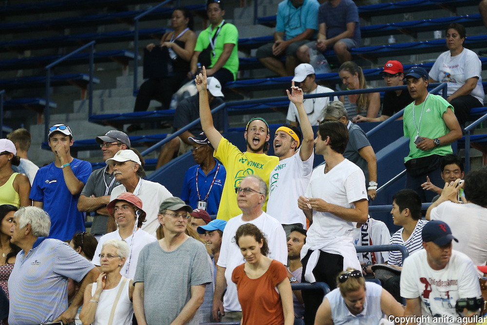 Fans in the Grandstand. Second Round. B. Tomic d. L. Hewitt 6-3, 6-2, 3-6, 5-7, 7-5