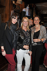 Left to right,  LAUREN GURVICH, KAREN WELMAN and ZANA MORRIS at a reception hosted by Ralph Lauren Double RL and Dexter Fletcher before a private screening of Wild Bill benefitting FilmAid held at RRL 16 Mount Street, London on 26th March 2012.