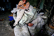 SHENGZHOU, CHINA -  china out - finland out<br /> <br /> He Zili is tethered by an iron chain at Gulai Town in Shengzhou, Zhejiang province of China. He Zili, 11, has suffered from psychosis for ten years. He fell out of bed when he was one year old. He began to attack villagers and damage property belonging to other people at the age of five. At first, his father He Chuyu tethered him to house with ropes, but he often bitted the rope off and ran away. He Chuyu had to tethered his son with a 2m long iron chain. He Chuyu and his son's pictures were posted on the Internet several days ago, a netizen saw that He Chuyu led his son with the iron chain and begged for money at a coach station, and took some photos.<br /> ©Exclusivepix
