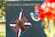 The Kings Shropshire Light Infantry Memorial at the National Memorial Arboretum, Croxall Road, Alrewas, Burton-On-Trent,  Staffordshire, on 29 October 2018. Picture by Mick Haynes.