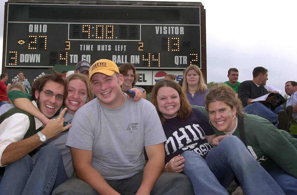 15570Homecoming 2002: Ohio Football vs. Eastern Michigan / student shots
