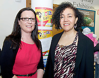 21/05/2013 Repro free. Sharon Lawless Social Inclusion Officer Department of Community & Culture, Galway City Council and Helen Webb Sonke at the launch of Africa Day 2013 at Galway City Museum by Galway City Council and Irish Aid  ....Africa Day falls on 25th May each year, with events taking place around the country from 20th-27th May.  It is an initiative of the African Union, and aims to celebrate African diversity and success and the cultural and economic potential of the continent.  In Ireland, events to mark Africa Day are supported by Irish Aid, the Government's programme for overseas development and Galway City Council.. .The events planned by Galway City Council will take place on 21st May and from 24th to 26th May.  Galway City Council are launching Africa Day 2013 by Mayor of Galway City Cllr Terry O'Flaherty on Tuesday 21st May @ 11:00 a.m.at the Galway City Museum with inputs from the African Ambassadors Network, Africian Film Festival, NUIG and music by South Africian Choirs. Picture:Andrew Downes