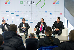 Jaka Dolenc, Andrej Kavsek, Marko Umberger and Gregor Krusic during press conference of TZS - Slovene Tennis Association after the end of the season 2012/13, on December 3, 2013 in BTC, Ljubljana, Slovenia. Photo by Vid Ponikvar / Sportida