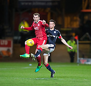 Aberdeen&rsquo;s Niall McGinn and Dundee&rsquo;s Cammy Kerr - Dundee v Aberdeen in the Ladbrokes Scottish Premiership at Dens Park, Dundee. Photo: David Young<br /> <br />  - &copy; David Young - www.davidyoungphoto.co.uk - email: davidyoungphoto@gmail.com