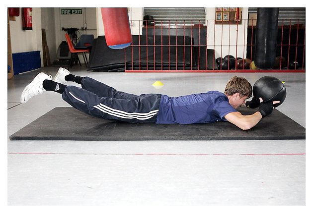 International GB Boxer Luke campbell training for muscle & Fitness..St Paul's ABC Gym, Hull, UK. 15-7-2011.