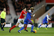 Middlesbrough midfielder Stewart Downing (19) tracks Ipswich Town defender Trevoh Chalobah (6)  during the EFL Sky Bet Championship match between Middlesbrough and Ipswich Town at the Riverside Stadium, Middlesbrough, England on 29 December 2018.