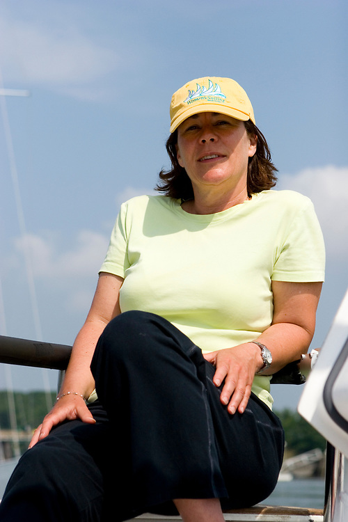 Adult Woman Boating