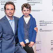 NLD/Amsterdam/20170320 - Onegin – Het Nationale Ballet premiere, Jeroen Spitzenberger en zoon
