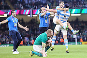 Joy and despair at the final whistle during the Rugby World Cup Quarter Final match between Ireland and Argentina at Millennium Stadium, Cardiff, Wales on 18 October 2015. Photo by Shane Healey.
