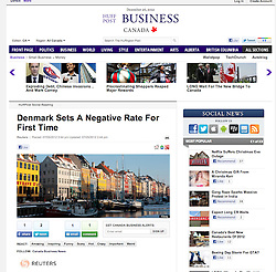 Huffington Post; Copenhagen in winter view