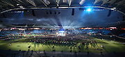 03.08.2014. Glasgow, Scotland. Glasgow Commonwealth Games. Closing Ceremony from Hampden Park. Kylie Minogue performs on stage