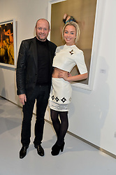 SCOT YOUNG and NOELLE RENO at a private view of Dancing Away featuring work by Mikhail Baryshnikov held at ContiniArtUK, 105 New Bond Street, London on 27th November 2014.