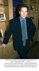 VISCOUNT LINLEY at a reception in London on 27th November 2001.<br />OUP 5