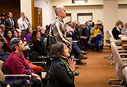 MADISON, WI – DECEMBER 19: Citizens plead with Wisconsin electoral college electors as they cast their ballots at the Wisconsin State Capitol on Monday, December 19, 2016.