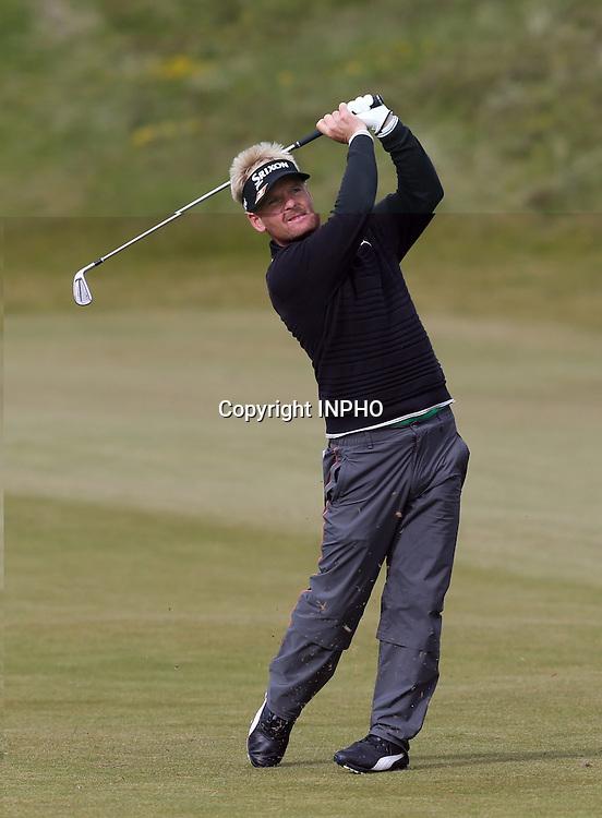 2015 Dubai Duty Free Irish Open Day 1, Royal County Down Golf Club, Co. Down 29/5/2015 <br /> Soren Kjeldsen on the 9th hole<br /> Mandatory Credit &copy;INPHO/Presseye/Andrew Paton