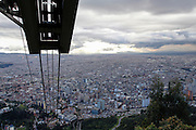 Bogota, Colombia cityscape as seen from Monserrate