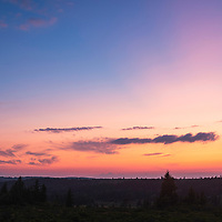 Beautiful twilight and crescent moon at Dolly Sods Wilderness