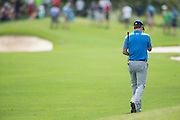 Jordan Spieth walks down the fairway during the first round of the AT&T Byron Nelson in Las Colinas, Texas on May 28, 2015. (Cooper Neill for The New York Times)