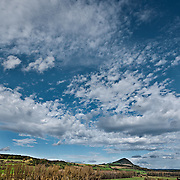 The Hegau – A storm is approaching, Baden-Wurttemberg, Germany.