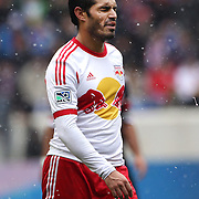 Fabian Espindola, New York Red Bulls, in action during the New York Red Bulls V D.C. United, Major League Soccer regular season match at Red Bull Arena, Harrison, New Jersey. USA. 16th March 2013. Photo Tim Clayton
