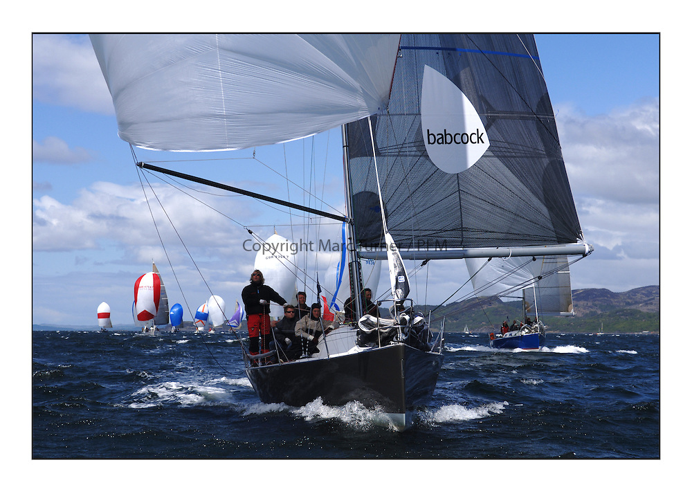 The final day of the Bell Lawrie Scottish Series, breezy and bright conditions from the North allowed the sailors to compete on a level par...Class 2 boats downwind GBR4334L Absolutely .