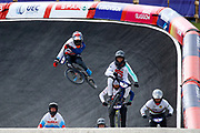 BMX Finals, Kyle Evans (Great Britain), David Graf (Switzerland) during the Cycling European Championships Glasgow 2018, at Glasgow BMX Centre, in Glasgow, Great Britain, Day 9, on August 10, 2018 - Photo luca Bettini / BettiniPhoto / ProSportsImages / DPPI<br /> - Restriction / Netherlands out, Belgium out, Spain out, Italy out -