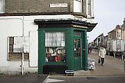 Charity shop on Economy Road cul de sac, Lowestoft, Suffolk, England
