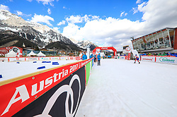 17.03.2017, Ramsau am Dachstein, AUT, Special Olympics 2017, Wintergames, Langlauf, Divisioning 5 km Freestyle, im Bild eine Übersicht des Zieleinlaufs // finish area during the Cross Country Divisioning 5 km Freestyle at the Special Olympics World Winter Games Austria 2017 in Ramsau am Dachstein, Austria on 2017/03/17. EXPA Pictures © 2017, PhotoCredit: EXPA / Martin Huber