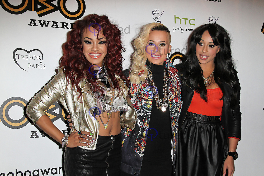 LONDON - SEPTEMBER 17: Stooshe attended the Nominations Launch of the MOBO Awards at Floridita London, UK. September 17, 2012. (Photo by Richard Goldschmidt)